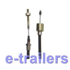 1130mm ALKO TYPE STAINLESS STEEL TRAILER BRAKE CABLE 26mm FUNNEL END - IFOR WILLIAMS & MORE